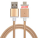 cheap Phone Cables & Adapters-USB 2.0 Braided Magnetic Cable For Samsung Huawei Sony Nokia HTC Motorola LG Lenovo Xiaomi cm Metal Nylon