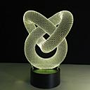 hesapli Büyüteçler-1 parça 3D Gece Görüşü Uzaktan Kontrol / Renk Değiştiren / Küçük Boy Sanatsal / LED / Modern / Çağdaş