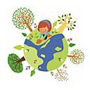 hesapli Dekorasyon Etiketleri-Hayvanlar İnsanlar Şekiller Duvar Etiketler Uçak Duvar Çıkartmaları Dekoratif Duvar Çıkartmaları, Vinil Ev dekorasyonu Duvar Çıkartması