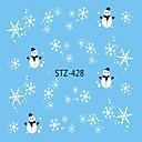 hesapli Makyaj ve Tırnak Bakımı-1pcs Su Transfer Etiketi / Noel Süsler / Çivi Çıkartması Nail Decals / Noel Tırnak Tasarımı Tasarımı