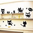 Недорогие Гаджеты для ванной-Животные Мода Отдых Наклейки Простые наклейки Декоративные наклейки на стены, Винил Украшение дома Наклейка на стену Стена