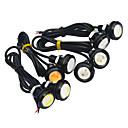 رخيصةأون مصابيح الضباب للسيارات-JIAWEN 2pcs سيارة لمبات الضوء 3W COB LED أضواء الخارج / الضوء الخلفي / ضوء النهار
