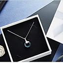 hesapli Kolyeler-Kristal Uçlu Kolyeler - Kristal Sallantılı Stil, Temel Koyu Mavi Kolyeler Mücevher Uyumluluk Günlük