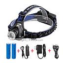 preiswerte Stirnlampen-U'King Stirnlampen Fahrradlicht LED LED 2000 lm 3 Beleuchtungsmodus inklusive Batterien und Ladegeräten Zoomable-, einstellbarer Fokus, Kompakte Größe Camping / Wandern / Erkundungen, Für den