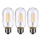 ieftine Becuri LED Bi-pin-ONDENN 3pcs 4 W Bec Filet LED 500-600 lm B22 E26 / E27 4 LED-uri de margele COB Intensitate Luminoasă Reglabilă Alb Cald 220-240 V 110-130 V / 3 bc / RoHs / CE