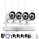 tanie Systemy CCTV-annke® 4ch cctv system bezprzewodowy 960p nvr 4szt 1.3mp ir odkryty p2p wifi ip cctv aparat bezpieczeństwa