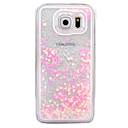 hesapli Galaxy S Serisi Kılıfları / Kapakları-Pouzdro Uyumluluk Samsung Galaxy S7 edge / S7 Akan Sıvı / Şeffaf Arka Kapak Işıltılı Parlak Sert PC için S7 edge / S7 / S6 edge plus