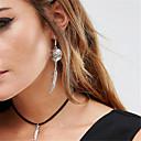 저렴한 목걸이-여성용 초커 목걸이 / 팬던트 목걸이 / 펜던트 - 눈물 개인화, 댕글링 스타일, 패션 화이트, 블랙, 브라운 목걸이 제품 일상, 캐쥬얼