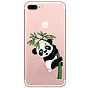halpa iPhone kotelot-Etui Käyttötarkoitus Apple iPhone 7 Plus iPhone 7 Läpinäkyvä Kuvio Takakuori Panda Piirretty Pehmeä TPU varten iPhone 7 Plus iPhone 7