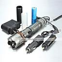 hesapli Fenerler-UltraFire 5 LED Fenerler LED 1000/1200/2000 lm 5 Kip LED Pil ve Şarj Aletleri ile Zoomable Ayarlanabilir Fokus Şarj Edilebilir Su Geçirmez