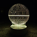 hesapli LED Tavan Işıkları-AWOO 1 parça 3D Gece Görüşü Uzaktan kumanda 7-Renk Uzaktan Kontrol Kısılabilir mobil güç kaynağı Renk Değiştiren