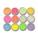 tanie Makijaż i pielęgnacja paznokci-12szt Proszek akrylowy / Glitter Proszek / Nail Glitter Błyszczące / Jarzy się w ciemności Nail Art Design