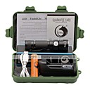 Buy U'King LED Flashlights / Torch 1500 lm 3 Mode Cree XP-E R2 Adjustable Focus Compact Size Clip Small Battery Charger