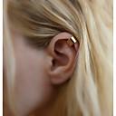 hesapli Saç Takıları-Kadın's Klipsli Küpeler - Temel Altın / Gümüş Uyumluluk Düğün / Günlük / Spor