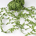 cheap Home Decoration-20Meter Silk Leaf-Shaped   Artificial Green Leaves For Wedding Decoration Diy Wreath Gift Scrapbooking Craft Fake Flower
