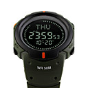 저렴한 다양한 LED 조명-SKMEI 스포츠 시계 밀리터리 시계 손목 시계 이미 터 방수, 알람, 달력 블랙 / 그린 / 2 년 / 일본어 / 크로노그래프 / 콤파스 / 스톱워치