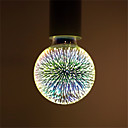 hesapli Ev Dekorasyonu-1pc 6 W 500 lm E26 / E27 LED Küre Ampuller / LED Filaman Ampuller G95 35 LED Boncuklar Entegre LED Dekorotif / Yıldızlı / 3d havai fişek Çoklu renkler 85-265 V / RoHs