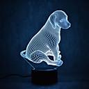 billige Te-redskaber-1 stk 3D natlys Usb Vandtæt / Sensor / Dæmpbar LED / Moderne Moderne