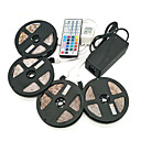 cheap LED Strip Lights-ZDM® 4x5M Light Sets 1200 LEDs SMD 2835 1 12V 6A Adapter / 1 44Keys Remote Controller / 1x 1 To 4 Cable Connector RGB Cuttable / Waterproof / Self-adhesive / IP65