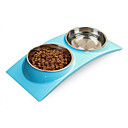 cheap Dog Clothing & Accessories-L Cat Dog Bowls & Water Bottles Pet Bowls & Feeding Waterproof Green Blue Pink