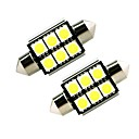 Buy ZIQIAO White 41mm 5050 6 SMD LED C5W Car Led Auto Interior Dome Door Light Bulb Pathway lighting Work Lamp (12V/2PCS)