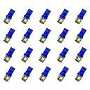 ieftine Lumini de Rulare Zi-20pcs T10 Mașină Becuri 0.8 W SMD 5050 55 lm LED Bec Semnalizare For Παγκόσμιο