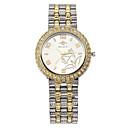 preiswerte Damenuhren-Damen Armbanduhr Quartz Schlussverkauf Cool / Legierung Band Analog Freizeit Modisch Elegant Silber / Gold - Gold Silber Rotgold / Silber