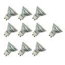 abordables Spots LED-10pcs 3W 280-420lm GU10 Spot LED MR16 60 Perles LED SMD 3528 Blanc Chaud / Blanc / 10 pièces