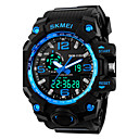 cheap Men's Watches-SKMEI Men's Sport Watch Digital Watch Digital Alarm Calendar / date / day Cool Silicone Band Analog-Digital Black - Red Blue Golden Two Years Battery Life / Maxell626+2025