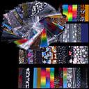 hesapli Kolyeler-48 pcs Tırnak Folyo Çizgi Bant tırnak sanatı Manikür pedikür Moda Günlük / Folyo sıyırma bandı