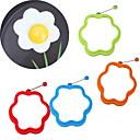ieftine Ustensile Bucătărie & Gadget-uri-în formă de floare silicon scramble ou mucegai inel mic dejun omletă mucegai