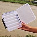 """levne Rybářské háčky-Krabice na výslužky box na návnady 2 Tácy Plast 20 cm*17 cm (6 3 / 4"""")*4.5 cm / multifunkční box / Spinning / Rybaření ve sladkých vodách / Lov okounů / Rybaření na háček"""