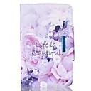 preiswerte Make-up & Nagelpflege-Hülle Für Samsung Galaxy Tab A 9.7 Kreditkartenfächer Geldbeutel mit Halterung Flipbare Hülle Magnetisch Ganzkörper-Gehäuse Blume Hart