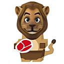 abordables Bombillas Incandescentes-Puzzles 3D Maqueta de Papel Juguetes de construcción León Animales Manualidades Papel duro Clásico Dibujos Niños Unisex Juguet Regalo
