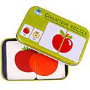 preiswerte Puzzles-Lernkarten Holzpuzzle Bildungsspielsachen Frucht Eisen Kinder Spielzeuge Geschenk