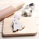 رخيصةأون أدوات الفرن-أرنب الكوكيز القاطع الفولاذ المقاوم للصدأ بسكويت كعكة العفن أدوات المطبخ الخبز