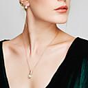 ieftine Seturi de Bijuterii-Pentru femei Perle Diamant sintetic Seturi de bijuterii Cercei Stud Coliere cu Pandativ Minge Plin de graţie femei Boem De Bază European Modă Perle Imitație de Perle Ștras cercei Bijuterii Alb Pentru