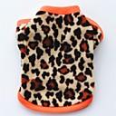 ieftine Imbracaminte & Accesorii Căței-Pisici Câine Haine Tricou Hanorca Îmbrăcăminte Câini Leopard Negru Leopard Lână polară Costume Pentru Primăvara & toamnă Iarnă Pentru femei Petrecere Casul / Zilnic Keep Warm