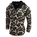 זול לד-L / XL / XXL ירוק צבא / אפור בהיר חורף כותנה, מרופד רגיל שרוול ארוך אחיד יומי בגדי ריקוד גברים