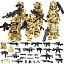 hesapli Kablo Düzenleyiciler-DILONG Legolar Askeri bloklar Blok Minifigürleri 106 pcs Askeri Savaşçı Asker Unisex Genç Erkek Genç Kız Oyuncaklar Hediye