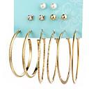 preiswerte Halsketten-Damen Perle Kreolen - Euramerican Gold / Silber Für Alltag / 12 Stück