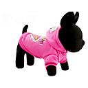 Недорогие Одежда и аксессуары для собак-Собака Толстовки Одежда для собак Мультипликация Пурпурный Синий Хлопок Костюм Для домашних животных На каждый день
