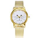 preiswerte Herrenuhren-Damen Modeuhr Kleideruhr Japanisch Quartz Armbanduhren für den Alltag Legierung Band Analog Charme Freizeit Zeichentrick Gold - Gold