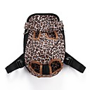 cheap Dog Supplies & Grooming-Cat / Dog Carrier & Travel Backpack / Front Backpack / Dog Pack Pet Carrier Portable / Adjustable / Retractable / Breathable Leopard / Cute Leopard