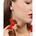 ieftine Cercei-Pentru femei Minge Minge Personalizat Modă Cute Stil cercei Bijuterii Rosu / Roz Bombon / Bleumarin Pentru Zilnic Casual Stradă Ieșire