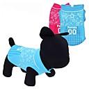 preiswerte Bekleidung & Accessoires für Hunde-Katze Hund T-shirt Hundekleidung Herz Sterne Rot Blau Terylen Kostüm Für Haustiere
