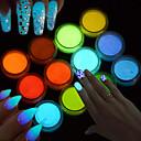 baratos Maquiagem & Produtos para Unhas-1pç Pó acrílico / Pó / Nail Glitter Brilho & Glitter / Luminoso Nail Art Design