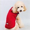 رخيصةأون خواتم-كلب البلوزات ملابس الكلاب لون سادة أحمر أزرق قطن كوستيوم من أجل ربيع & الصيف الشتاء رجالي نسائي كاجوال / يومي