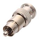 tanie Systemy CCTV-Złącze 10Pcs BNC Male Plug to RCA Male Plug RG59 Coax Cable Video Adapter Connector na Bezpieczeństwo systemy 5*1 cm cm 0.01 kg kg