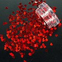 Χαμηλού Κόστους Μακιγιάζ και περιποίηση νυχιών-1 pcs Πούλιες / Glitter νυχιών Heart Shape / Φανταχτερό Σχεδίαση Νυχιών